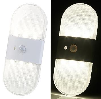 Pearl - Lámpara led de pared, funciona con pilas, con sensor de movimiento y