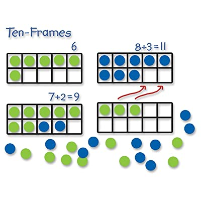 Learning Resources Giant Magnetic Ten-Frame Set, Classroom Math Set, Magnetic Whiteboard Set, Set of 4, Ages 5+: Office Products