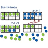 Learning Resources Giant Magnetic Ten-Frame Set, Classroom Math Set, Magnetic Whiteboard Set, Classroom Demonstration…