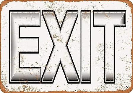 LORENZO Exit Vintage Metal Cartel de Chapa Pared Hierro ...