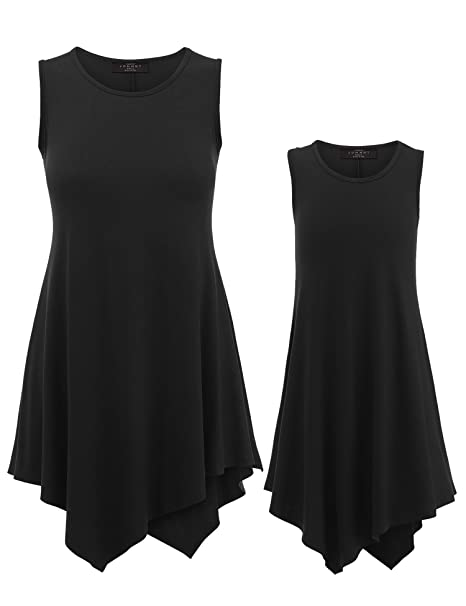 b118398d8a Amazon.com  MBJ Kids Mommy and Me Sleeveless Comfy Tunic Tank Top ...