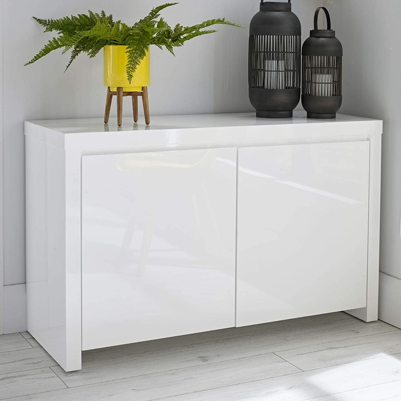 hot sale online f2ee6 2c60c Furniture Octopus Alana Modern White High Gloss Sideboard