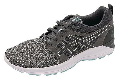ASICS Women's Torrance Running Shoe (10, Carbon/Carbon/Aruba Blue)