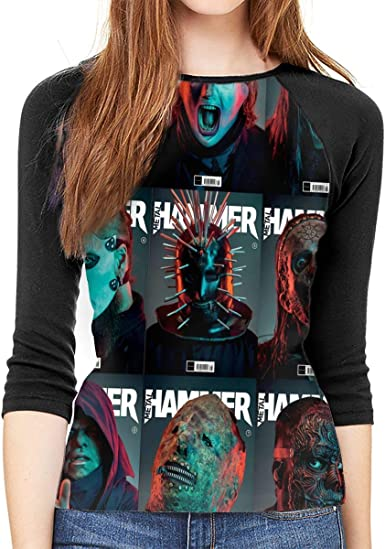 SheyAnsh DevilDriver Womens Round Collar 3//4 Sleeve Shirt Baseball T-Shirt Raglan T-Shirt