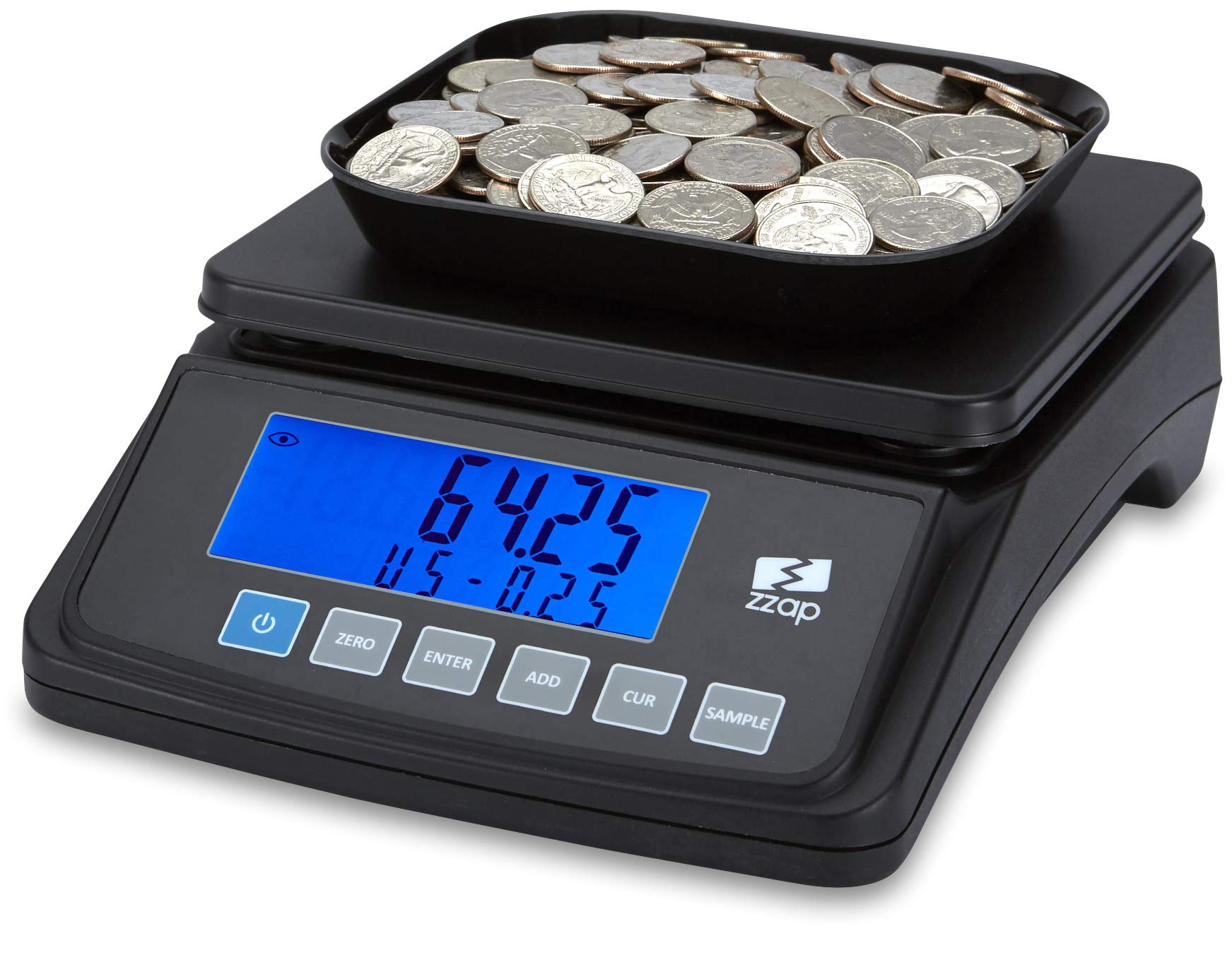 ZZap MS10 Coin Counting Scale - Money Cash Currency Weighing Machine by ZZap