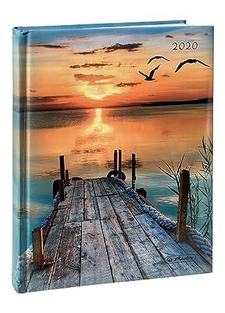 Herlitz - Agenda 2020, A5, diseño de puesta de sol: Amazon ...