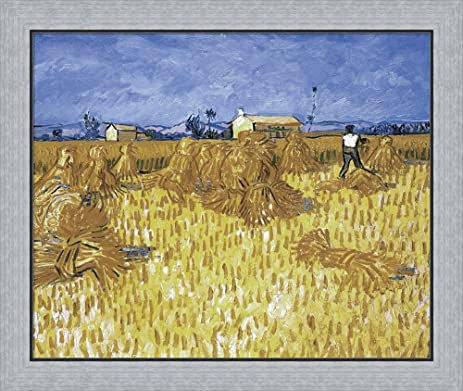 Amazon.com: Cornfield in Provence by Vincent Van Gogh Framed Art ...