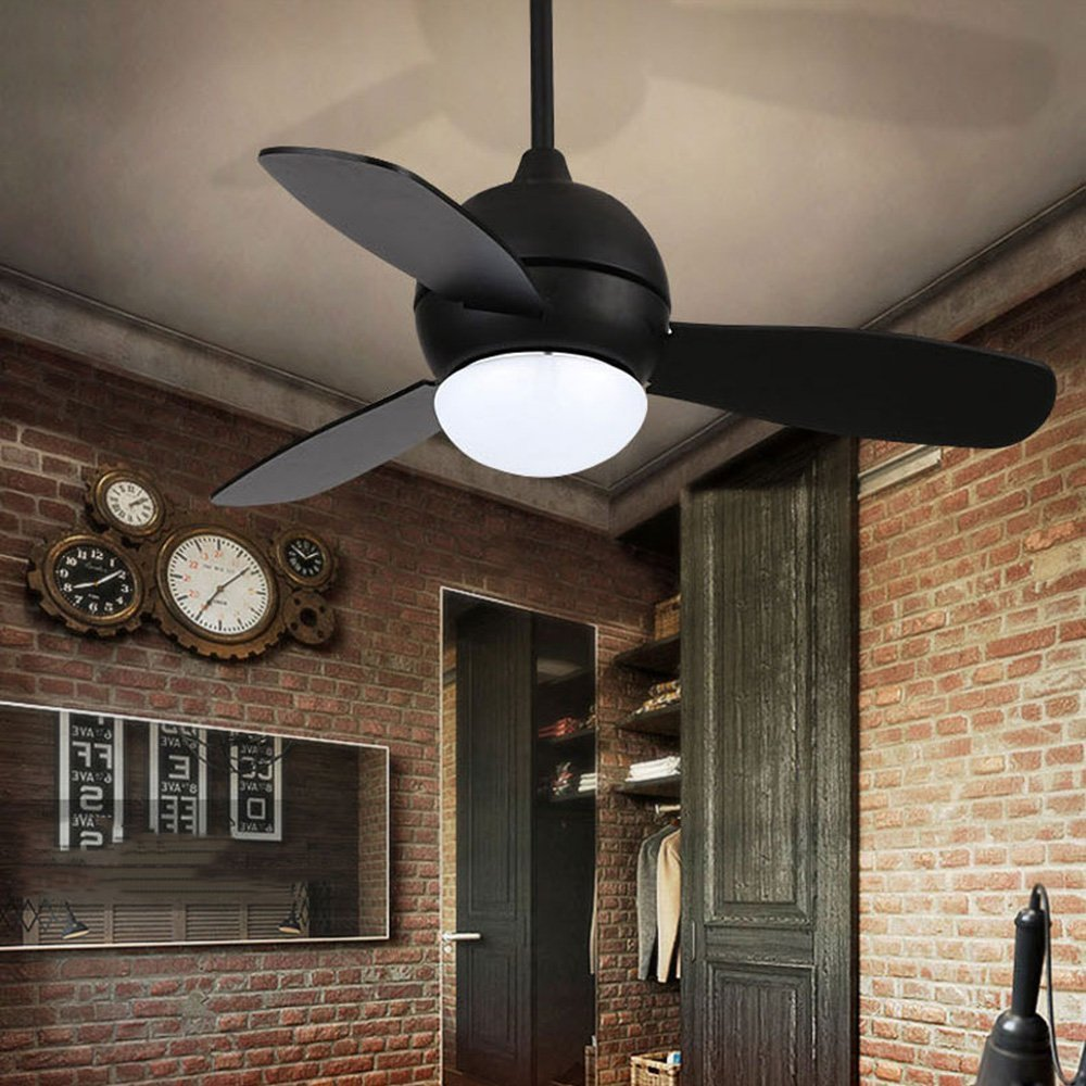 RS Lighting 42-Inch Five-speed hand-held Remote Reversible Three-Blade Indoor Ceiling Fan (White Glow)