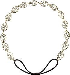 """SIX""""Festival"""" Damen Haarband, Haarschmuck, Kopfband, Accessoire, filigran, Blätter, römisch, griechische Göttin, goldfarben (252-867)"""