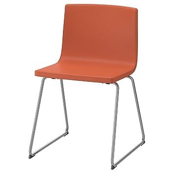 Zigzag Trading Ltd Ikea Bernhard Chair Orange Chrome Mjuk