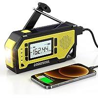$36 » 【2021 Newest】 Emergency Radio, DODOSOUL Solar Hand Crank Radio-AM/FM/NOAA Weather…