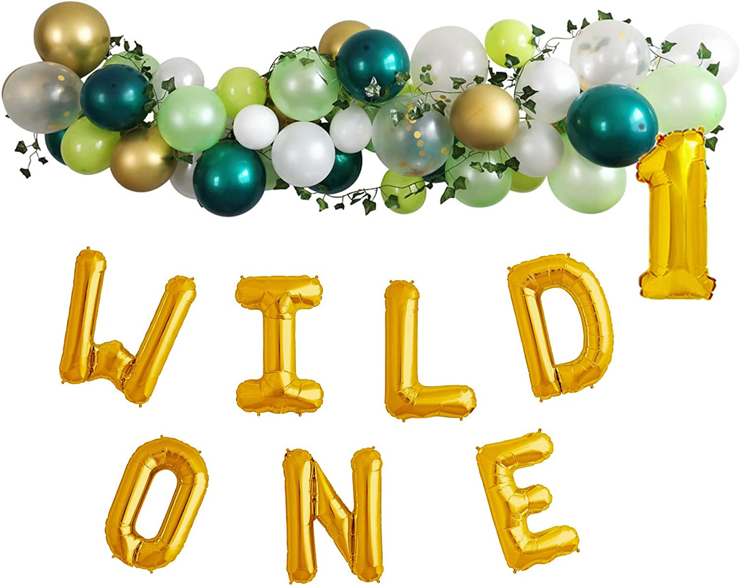 Wild One Birthday Party Decorations Backdrop For Boy 1st Baby Girls/Boys Birthday Party Balloons Garland Set