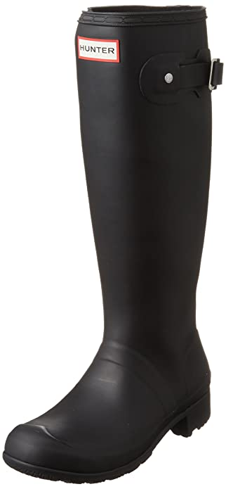 Hunter Original Back Adjustable Gloss Tall, Damen Gummistiefel, Schwarz (Black), 40 EU