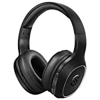 SoundPEATS Wireless Headset, Over-Ear Headset with Bluetooth 4.1, HiFi Stereo Sound, Built-in Mic, 20 Hours Working Time Backup Aux Cable, Noise Reduction, Built in Mic Bluetooth Headset-Black
