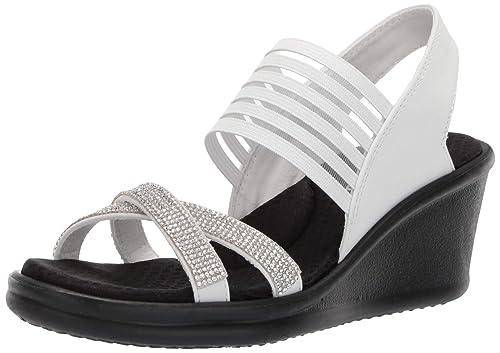 ce5d9cbce2 Skechers Cali Women's Rumblers - Modern Maze Wedge Sandal: Amazon.co ...