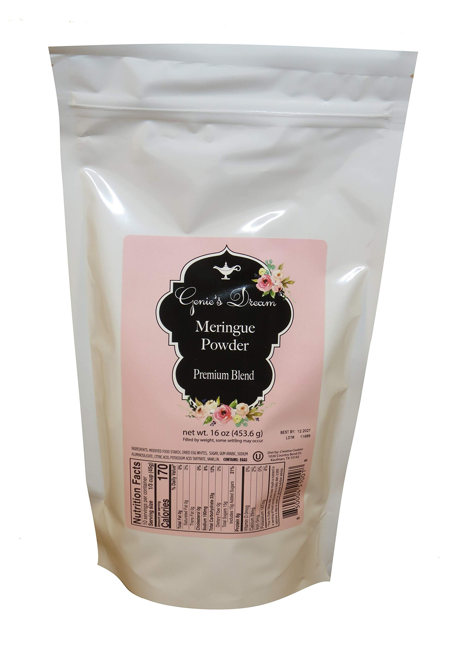 Genie's Dream Premium Meringue Powder, 16 oz (1 lb) pouch