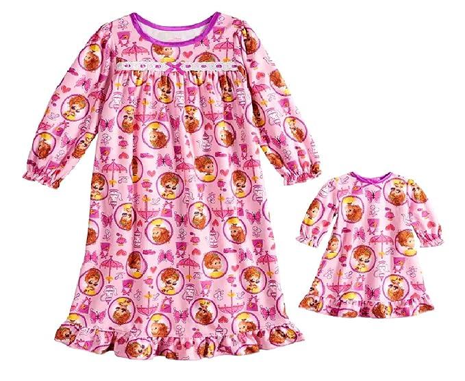 e1b8db9cb405 Amazon.com  Fancy Nancy Nightgown   Matching Doll Nightgown  Clothing