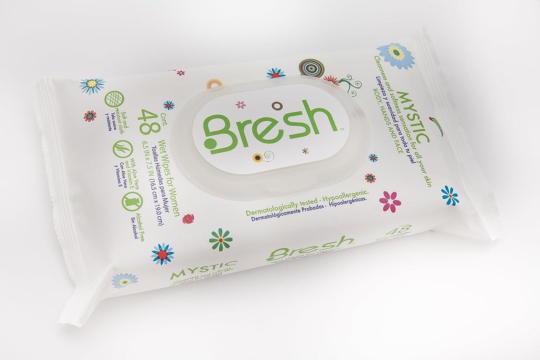 Femenino Toallitas por Bresh - Cuerpo Toallitas para las mujeres - hipoalergénico y PH Equilibrado toallitas húmedas tejidos - no Flushable - deportes, ...