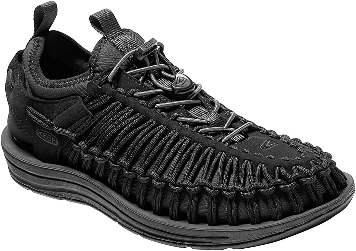 9.0 Womens Black//Black KEEN Uneek HT Sandal