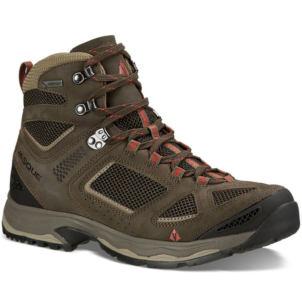 VASQUE Men's Breeze III GTX Hiking Boots, Black Olive Black Olive/Bungee Brown