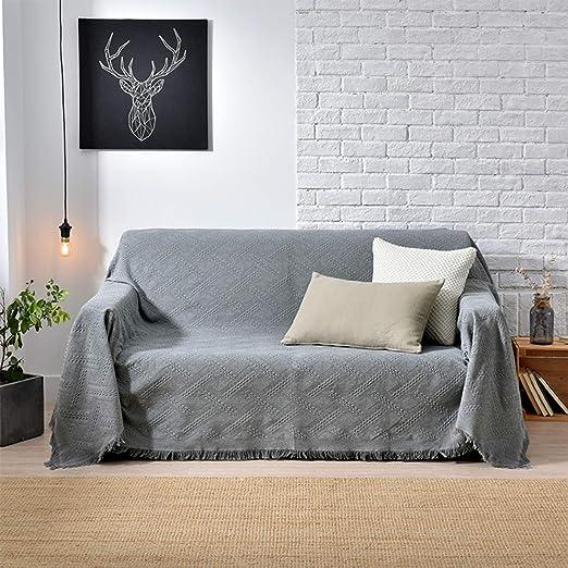 AILY Manta de sofá Multifuncional Nordic Grey Manta Decorativa ...