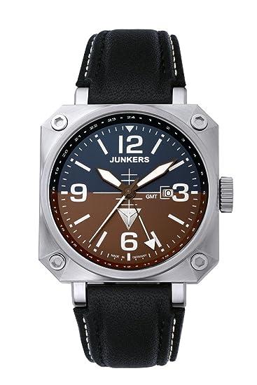 Junkers 67404 - Reloj de caballero de cuarzo, correa de piel color negro