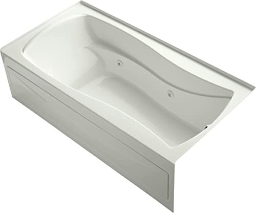 Kohler K-1257-RA-NY Mariposa 6Ft Whirlpool with Integral Apron, Flange and Right-Hand Drain, Dune