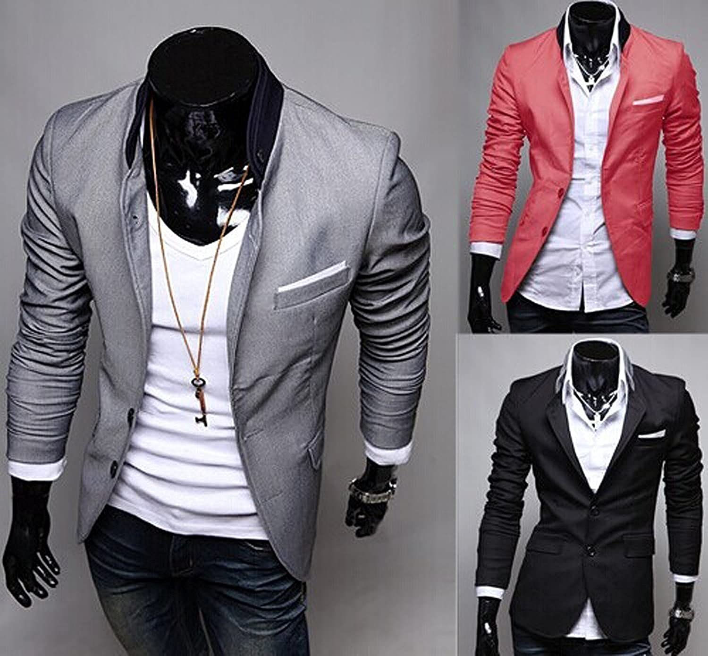 Hombres Moda Slim Chaqueta De Fit Minetom Otoño Primavera Sport HqazqU7