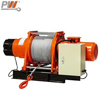 Amazon Com Prowinch 4 Ton Industrial Electric Winch 8000 Lb Heavy Duty With Wire Rope 240v Three Phase Industrial Scientific