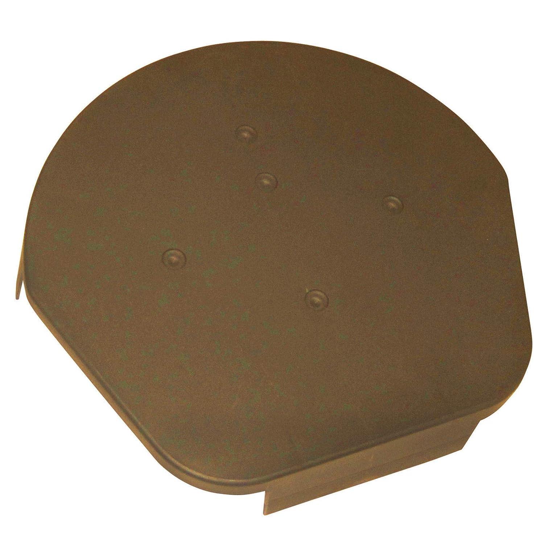 Dry Verge Round Ridge End Cap |Easy Trim Dry Verge System| Apex End Cap (Terracotta)