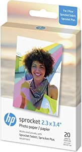 HP Sprocket Photo Paper |2.3 x 3.4 in| 20 sheets