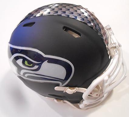 Amazon Com Seattle Seahawks Custom Speed Mini Helmet With