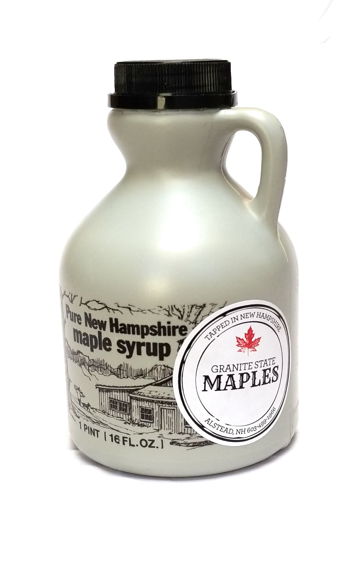 Granite State Maples 16Fl Oz.(1 Pint) Pure New Hampshire Maple Syrup, Grade A