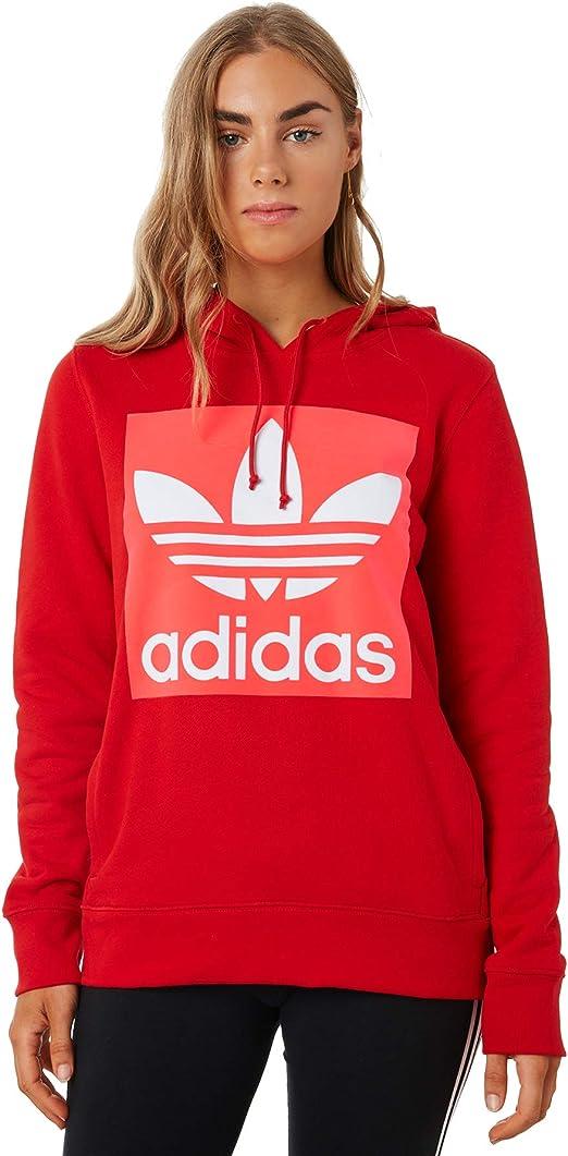 adidas Trefoil Hoodie Damen Sweatshirt Violett | real