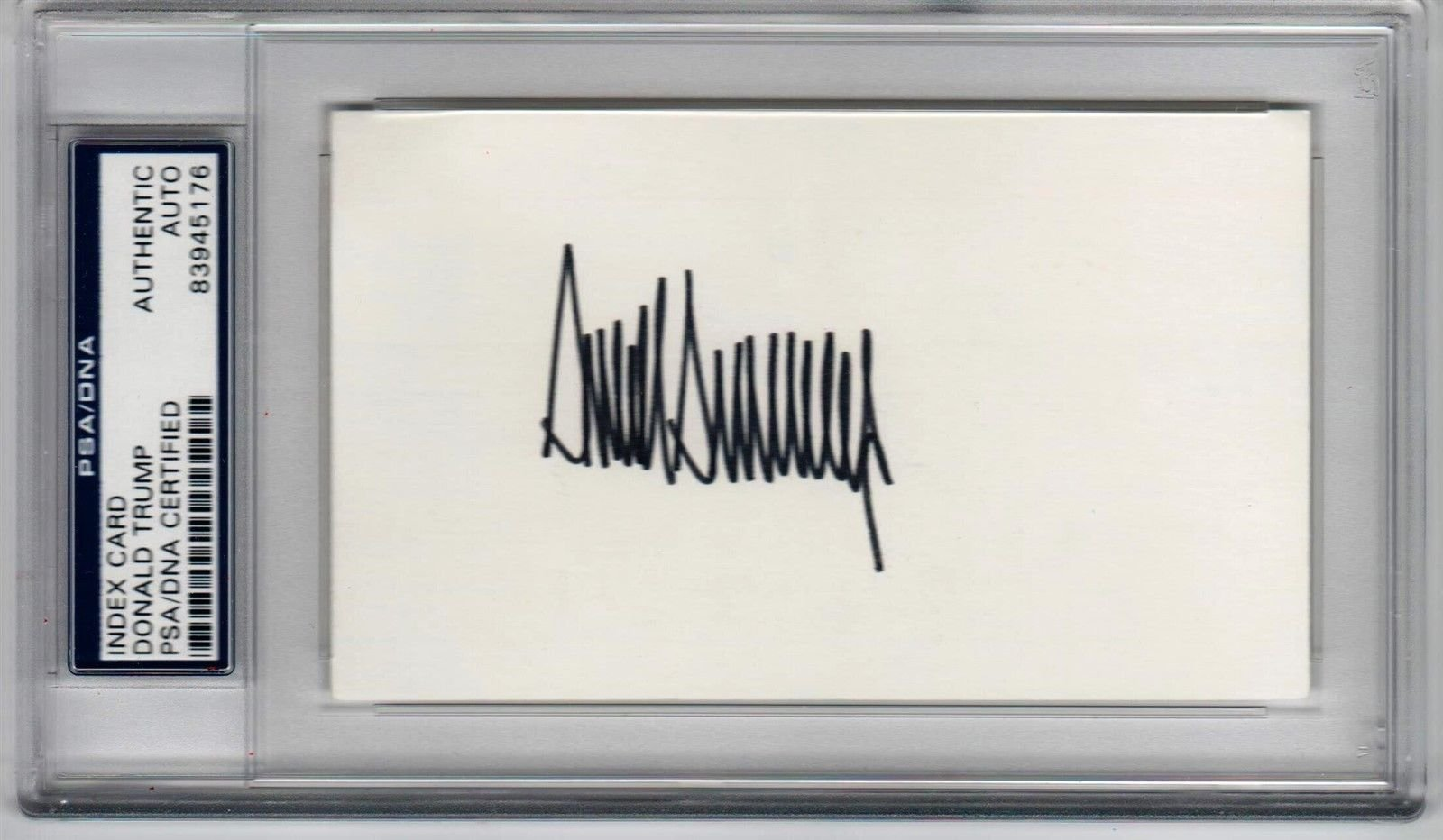 President Donald Trump signed 3x5 index card PSA/DNA early signature