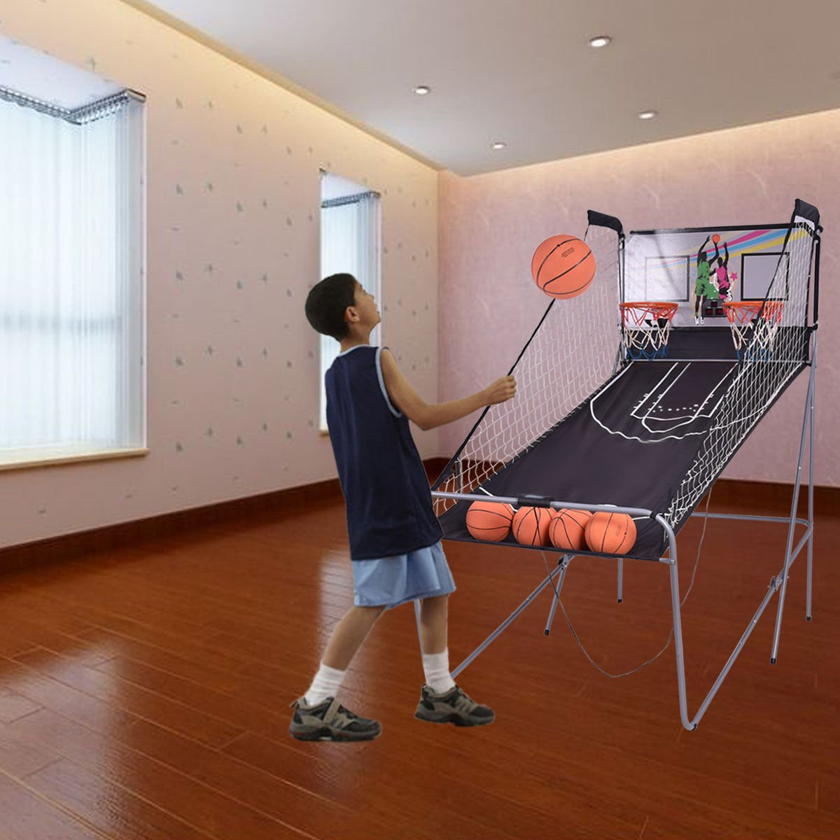Eight24hours Indoor Basketball Arcade Game Double Electronic Hoops shot 2 Player 4 Balls + FREE E - Book by Eight24hours (Image #6)