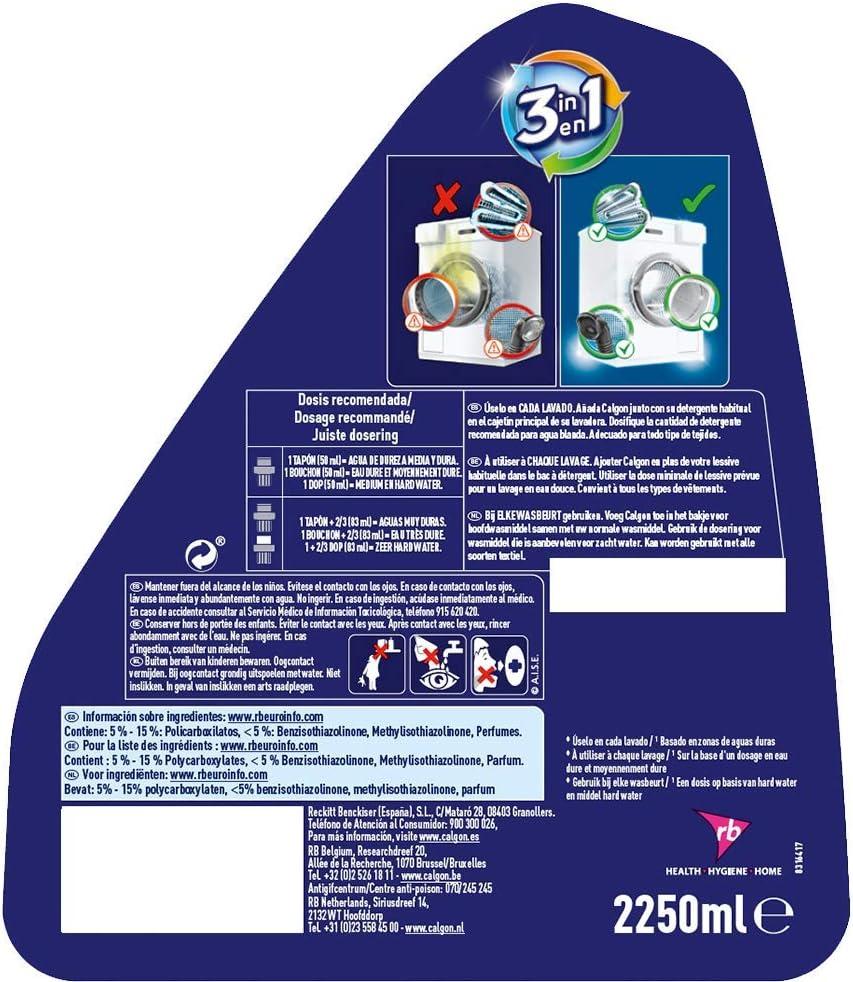 Calgon Antical para lavadora, gel regular, protección contra cal + ...