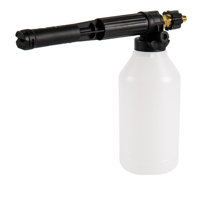 STIER Schaumkanone | Korrosionsbeständig | Anschluss 1/4 Zoll | 2,1 Liter | 150 - 200 bar | Schaumsprüher | Hochdruckreiniger | Schaumpistole | Auto-Garten |