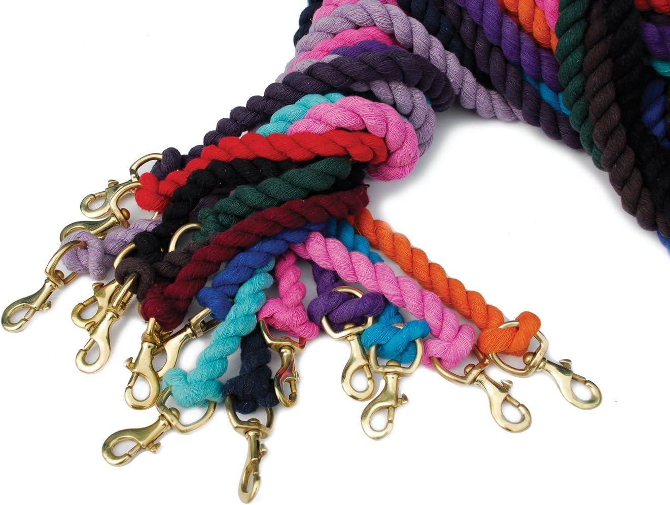 Black One Size Rhinegold Unisexs Cotton Lead Rope