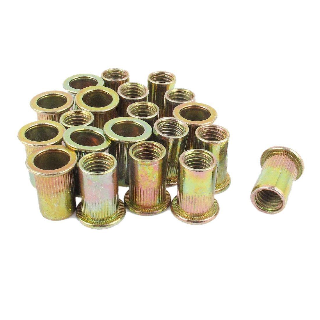 Rivet Nut - TOOGOO(R) 20pcs Flat Head Metric Steel M10 Blind Insert Rivet Nut Rivnut New