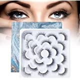 10 Pairs False Eyelashes, Dramatic Style Fake Eyelashes with Natural Look Extension, Soft and Reusable Black Lashes for Women