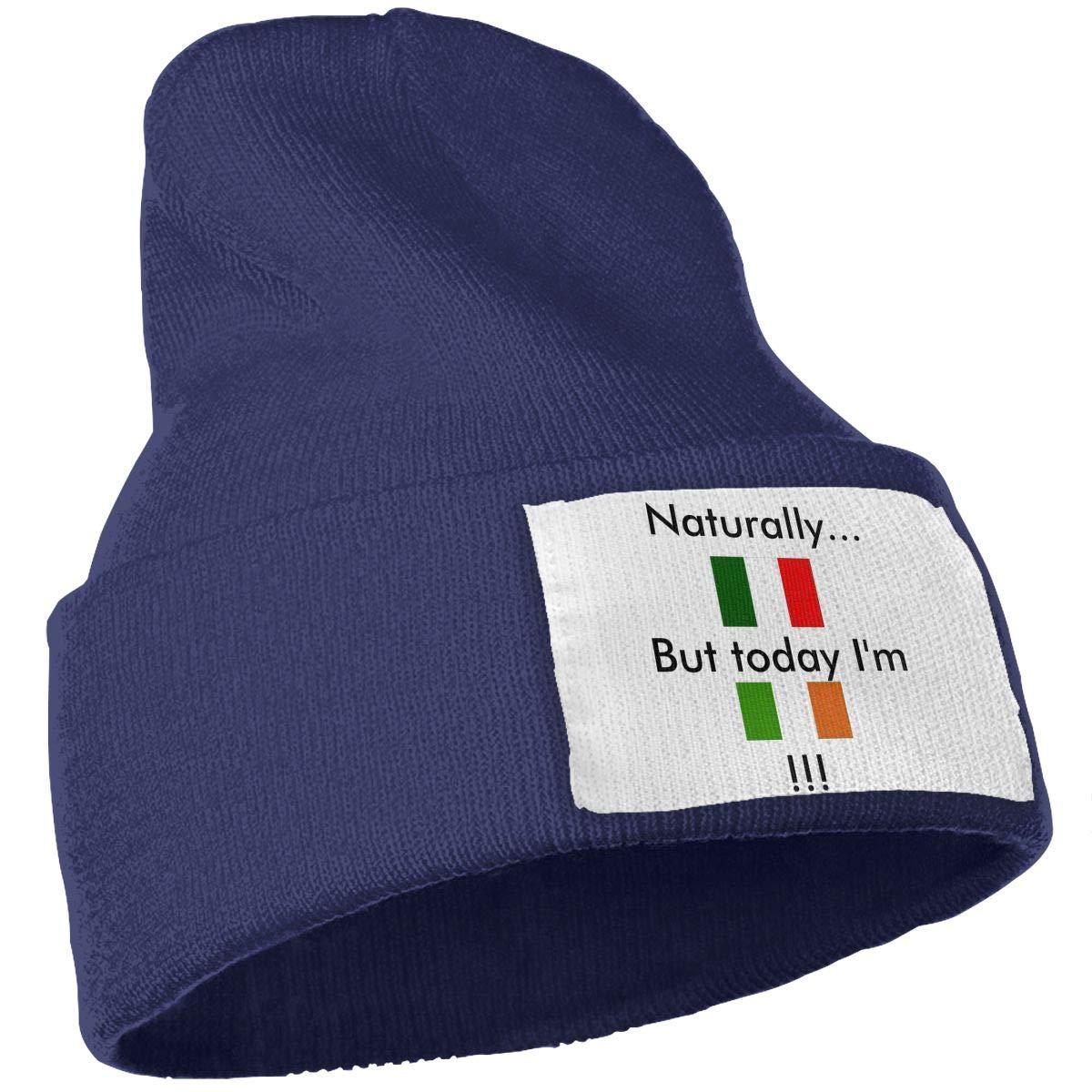 Naturally Italian But Today Im Irish Unisex Fashion Knitted Hat Luxury Hip-Hop Cap
