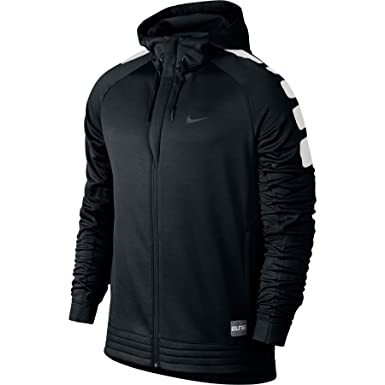 dfdffe6f Nike Therma Fit Men's Full Zip Elite Stripe Basketball Hoodie Sweatshirt  Black/White - Black