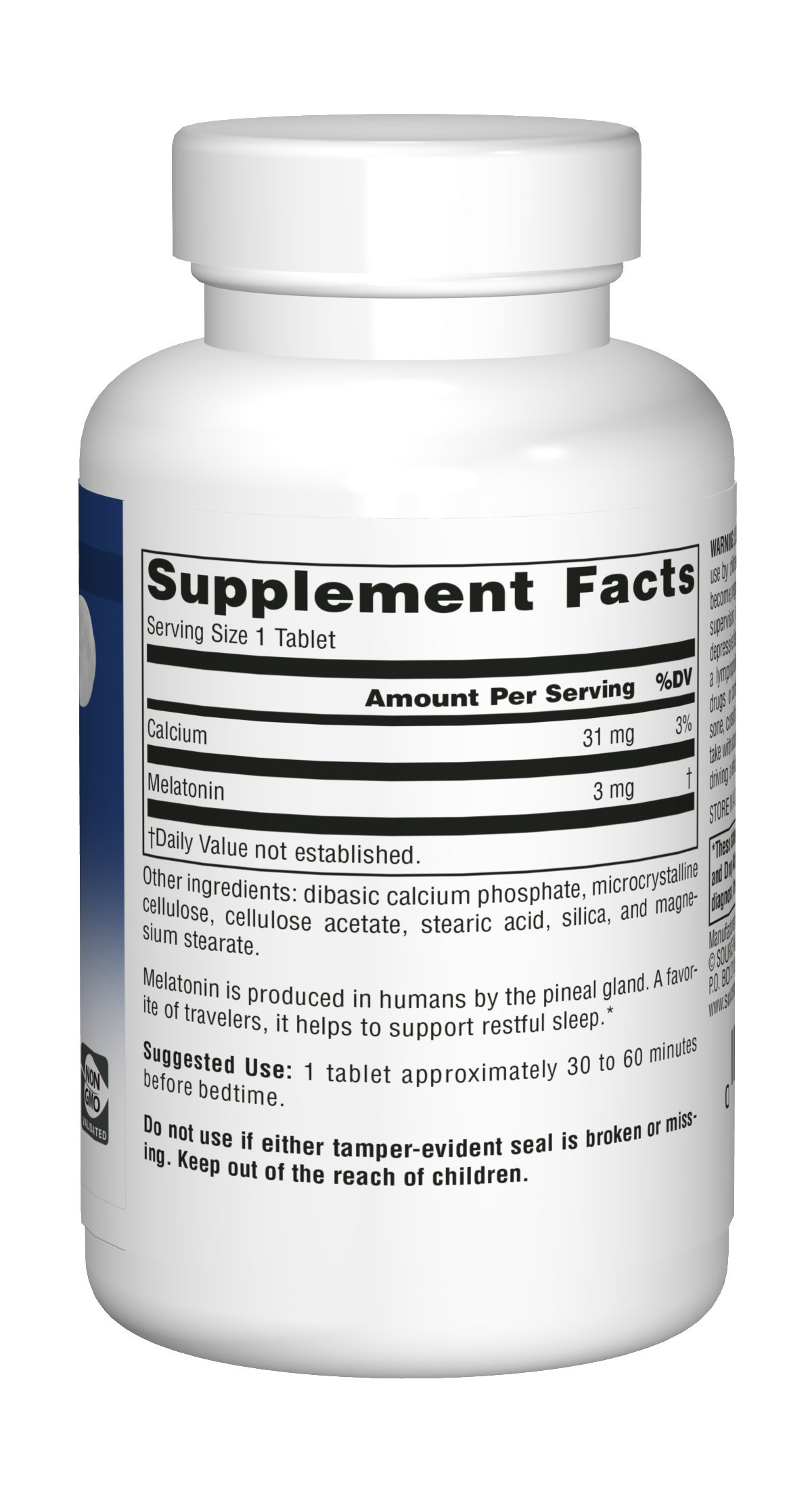 Source Naturals Melatonin 3mg - Sustained Release - 120 Tablets by Source Naturals (Image #8)