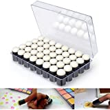 Janolia 40Pcs Finger Sponge, Finger Paint, Daubers Tool for Paint Ink Pad Craft with Storage Case, Great for Applying Ink, Chalk, Paint, Card Making and Other Art Creation