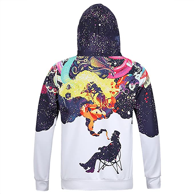 Jamemcabin Smoking Print Men/Women 3D Hooded Sweatshirts Men 3D Hoodies With Cap Hip Hop Pullover Streetwear Sudaderas at Amazon Mens Clothing store: