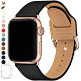 POWER PRIMACY Bands Compatible with Apple Watch Band 38mm 40mm 42mm 44mm, Top Grain Leather Smart Watch Strap Compatible for