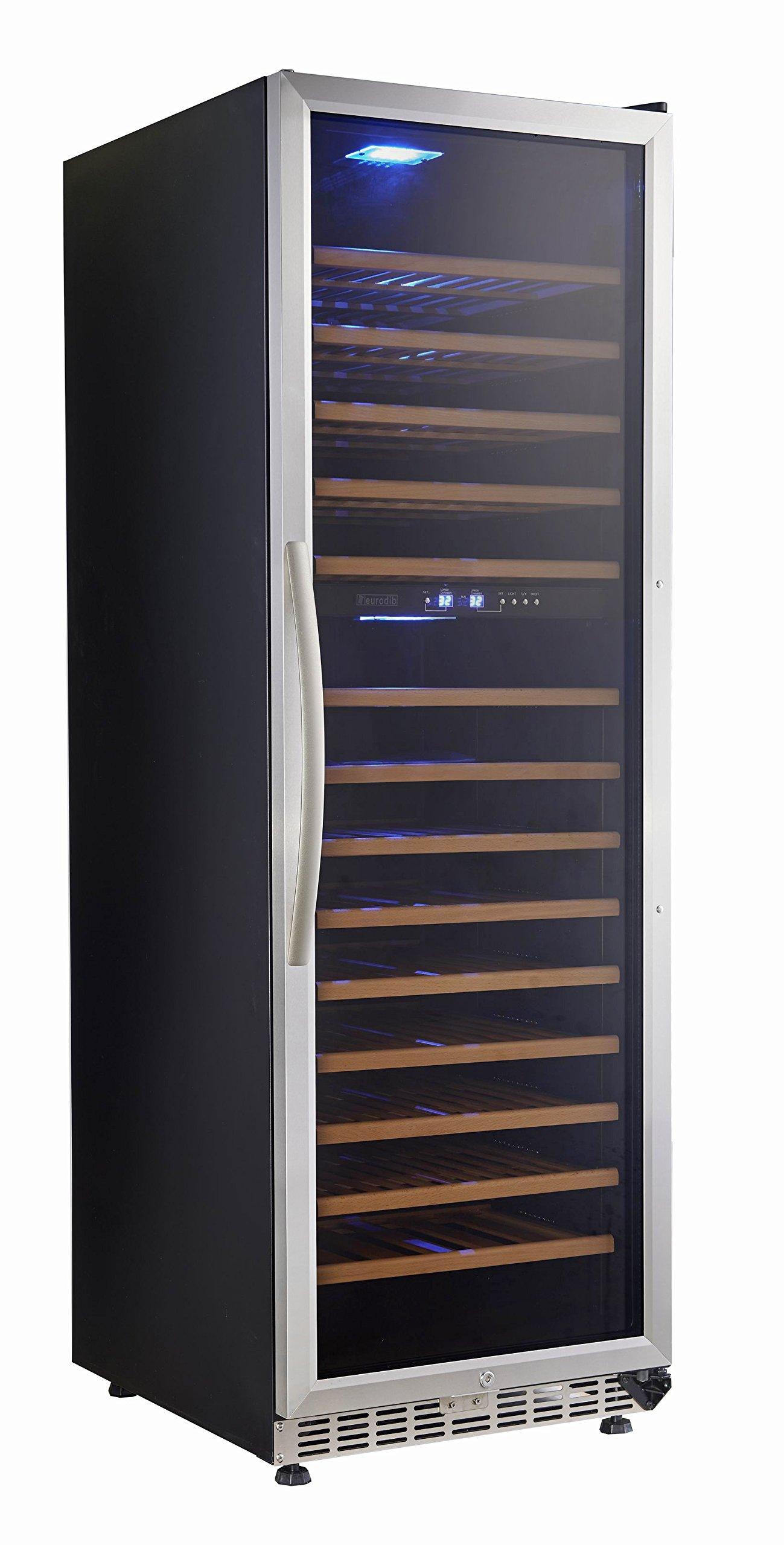 Eurodib USF168D 154 Bottles Dual Temperature Wine Cellar by Eurodib