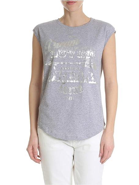 Pinko T-Shirt Donna 1X10G9Y5G9I42 Cotone Grigio  Amazon.it  Abbigliamento fc946bd1ecb