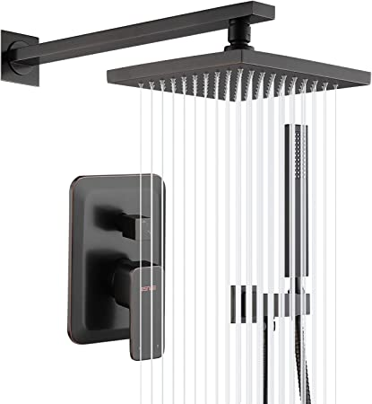 Esnbia Oil Rubbed Bronze Shower System Wall Mounted Shower Faucet